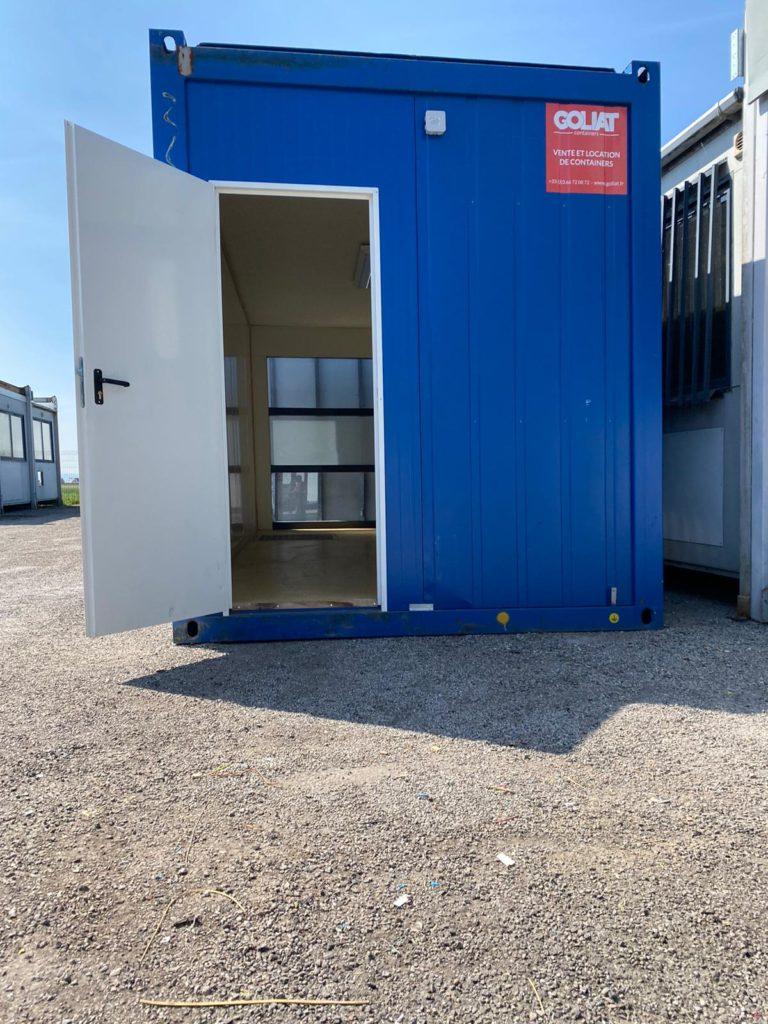 Bungalow Container Pour Chantier 20 Pieds Goliat avec baie vitrée